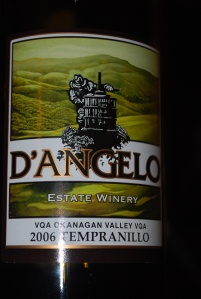 Tempranillo 2006 by D'Angelo