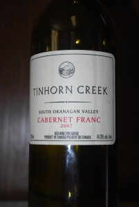 Cabernet Franc 2007 from Tinhorn Creek