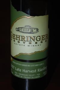 Gerhinger Brothers Late Harvest Riesling 2007