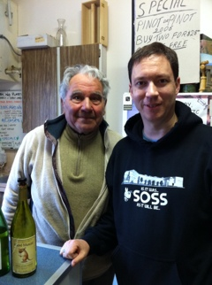 with Joe Busnardo, from Divino Winery in Cobble Hill