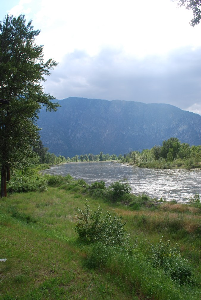 The Similkameen river from the patio of Forbidden Fruit Winery.