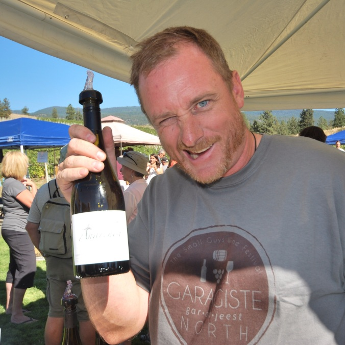 Andrew Stone of Anarchist Mountain Vineyards, before drinking his Chardonnay...